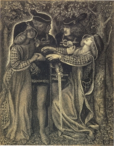 """How They Met Themselves"" by D.G. Rossetti"